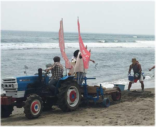 大竹海岸ハマグリまつり様子