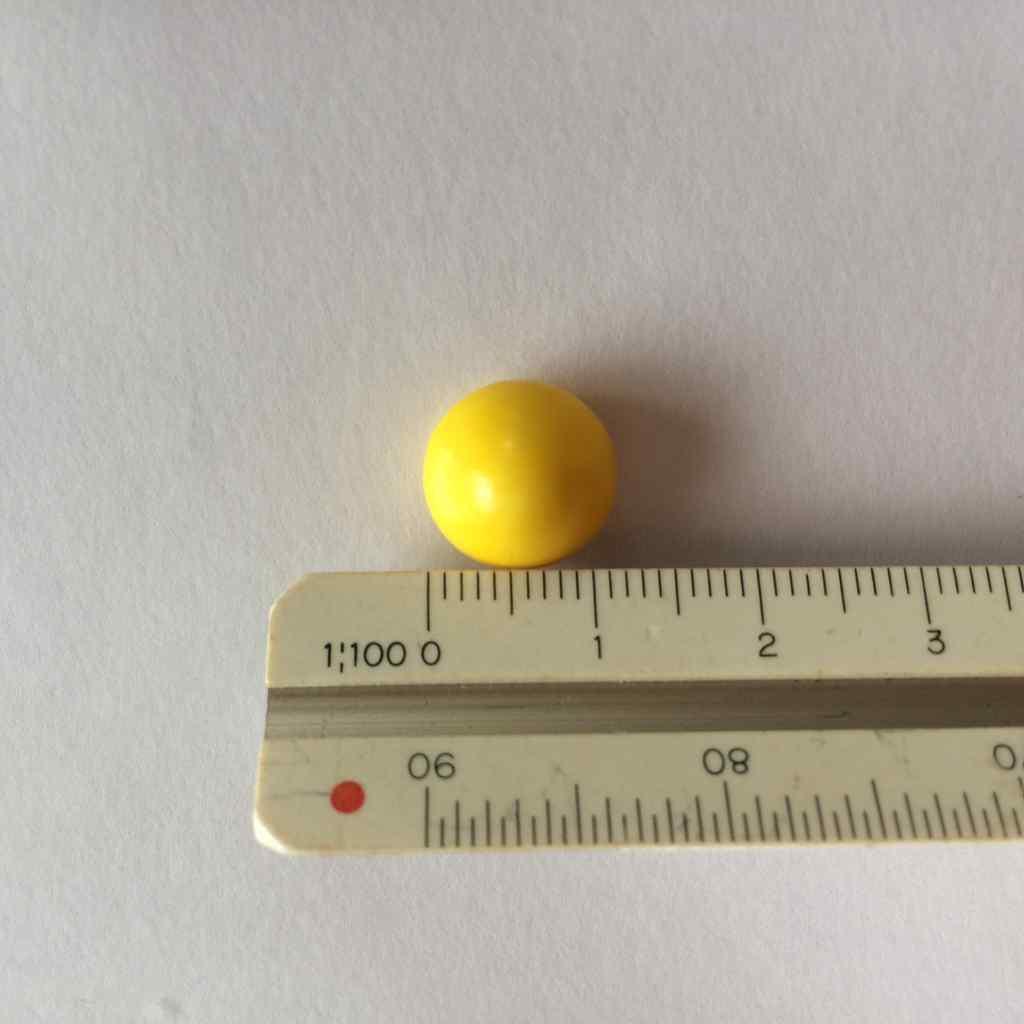 カルシウムグミの大きさ
