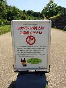 虫かご禁止